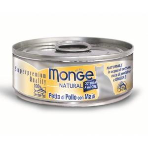 MONGE Natural Tuncis ar cāļa gaļu un kukurūzu 80gr