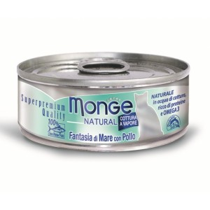MONGE Natural Jūras produktu maisījums ar cāļa gaļu 80gr