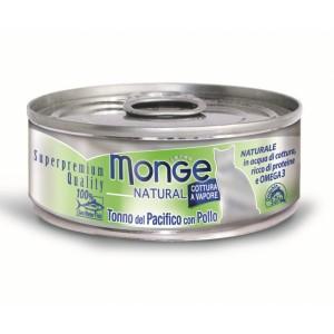 MONGE Natural Dzeltenspuru tunzivs ar cāļa gaļu 80gr
