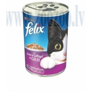 Felix Ente & Geflugel Gelle - Konservēta barība Кaķēniem ( pīle - mājputns) 400 G.