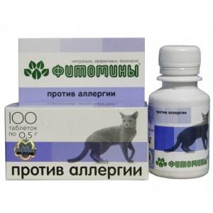 Fitomīni ar antialerģisku fitokompleksu kaķiem - 50g (100gab.)